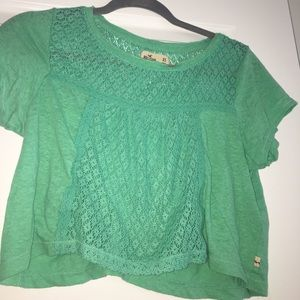 Green Crop Tee from Hollister